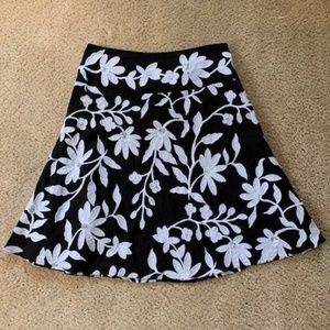 INC Black & White Sequin Aline Skirt Like New